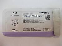 Викрил фиолетовый 5-0, М1, 75 см, игла колющая RB-1 Plus (W9105)Ethicon/ Johnson&Johnson