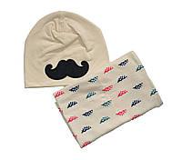 Комплект шапка і снуд дитячий