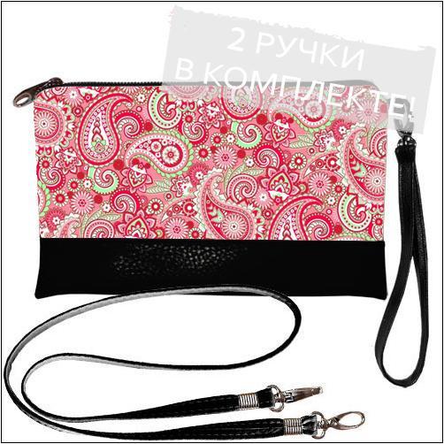 Женский сумочка-клатч с принтом