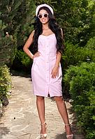 Шикарное платье футляр нежно-розового цвета