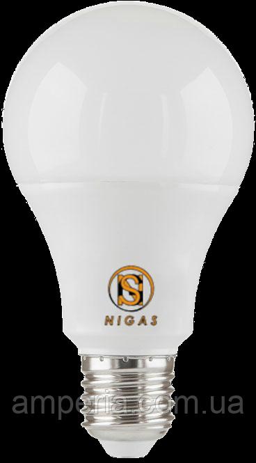 NIGAS Светодиодная лампа LED-NGS-50 A60 E27 6500K 10W