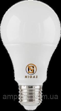 NIGAS Светодиодная лампа LED-NGS-50 A60 E27 3000K 10W, фото 2