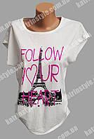 """Женская футболка """"Follow your heart"""" с рисунком"""