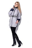 Зимняя куртка LS-8504 Серый-синий