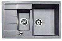 Кухонная мойка из тегранита TEKA ASTRAL 60 B-TG (серый металлик), фото 1