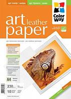 Фотобумага ColorWay ART глянцевая/фактура кожа 230г/м, 10л, A4