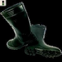Чоботи гумові чорні/зелені