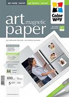 Фотобумага ColorWay ART магнитная/глянцевая 690г/м, 5л, A4
