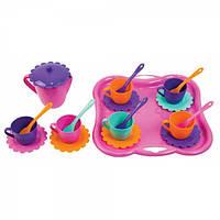 Набор игрушечной посуды Ромашка с подносом 22 элемента Тигрес 39086