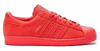 """Кроссовки Adidas Superstar [City Pack] """"London"""" - """"Красные"""" (Копия ААА+), фото 1"""