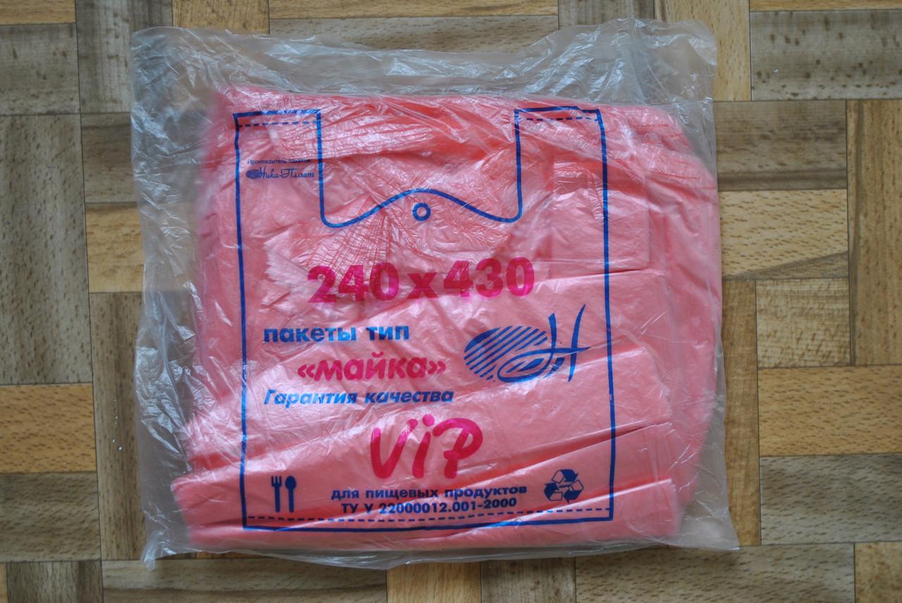 Поліетиленовий пакет майка №2 Luxe VIP 240*420 Ніка-Пласт