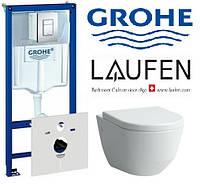 Инсталяция Grohe Rapid SL 38775001 + унитаз Laufen PRO с сидением Soft close