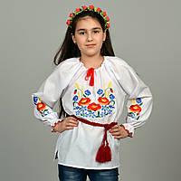 """Детская сорочка вышиванка для девочки """"Колоски"""""""
