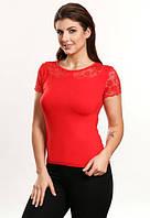 Клео красная блузка вискоза