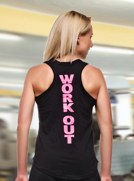 Спортивная майка WorkOut Pink