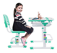 Комплект FunDesk Парта и стул-трансформеры Colore Green