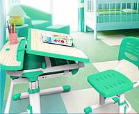 Комплект FunDesk Парта и стул-трансформеры Sorriso Green