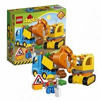 Lego Лего Duplo Грузовик и гусеничный экскаватор 10812