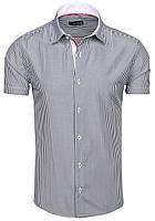 Летняя стрейчевая рубашка в полоску
