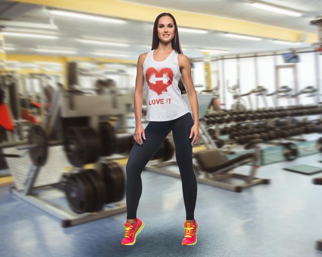 майка для фитнеса Love it