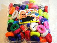 Резинки для волос детские упаковка 100 шт