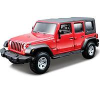 Авто-конструктор Bburago (1:32) Jeep Wrangler Unlimited Rubicon (18-45121) Красный