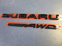 Subaru Impreza WRX STI 2015-17 черный значок эмблема надпись на багажник Subaru Symmetrical AWD новая оригинал