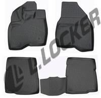 Коврики в салон Ford Explorer V (10-) (полимерные) L.Locker Форд Эксплорер 5
