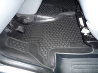 Коврики в салон VW Transporter/Caravelle (02-) передние (полимерные) L.Locker Фольксваген Каравелла