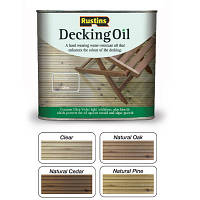 Цветные масла для террас (бесцветный) DECKING OIL CLEAR