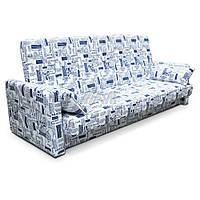 """Диван-кровать Ньюс мех.""""клик-кляк"""" ппу, Газета беж, с двумя подушками и подлокотниками"""