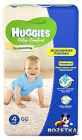 """Huggies Ultra Comfort """"4"""" (8-14 кг) для мальчиков 66 шт."""