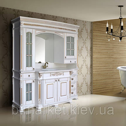 Комплект мебели Ольвия (Атолл) Людовик white gold (белый мат + золото), фото 2