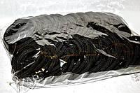 Резиночки для волос черные упаковка 100 шт