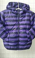 Демисезонная детская курточка в полоску, 92-116 см