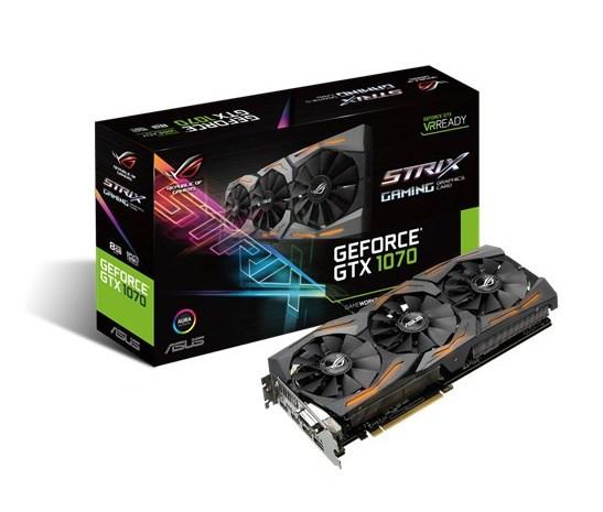 Видеокарта ASUS GeForce GTX1070 8GB GDDR5 OC
