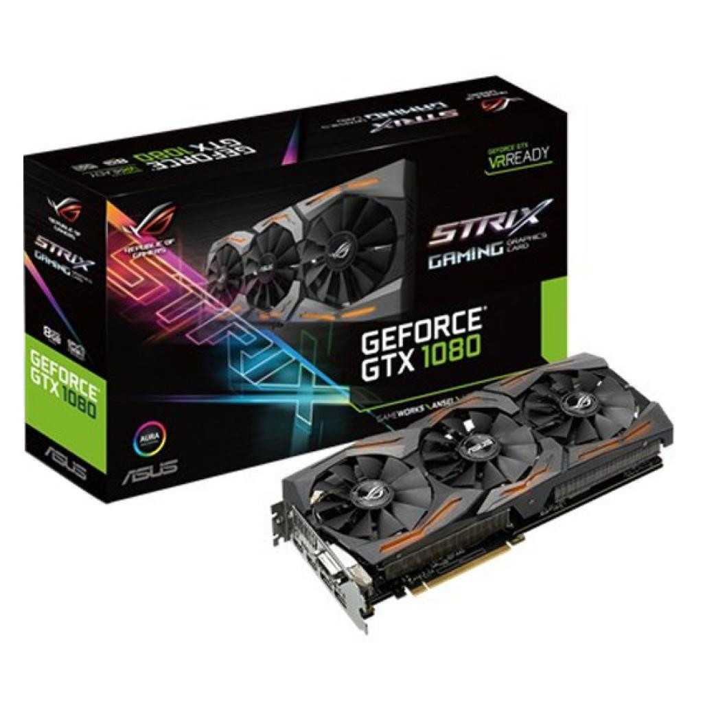 Видеокарта ASUS GeForce GTX1080 8GB GDDR5X GAMING STRIX