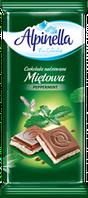 Молочный шоколад Alpinella «Mietowa» (с мятной начинкой), 100 г