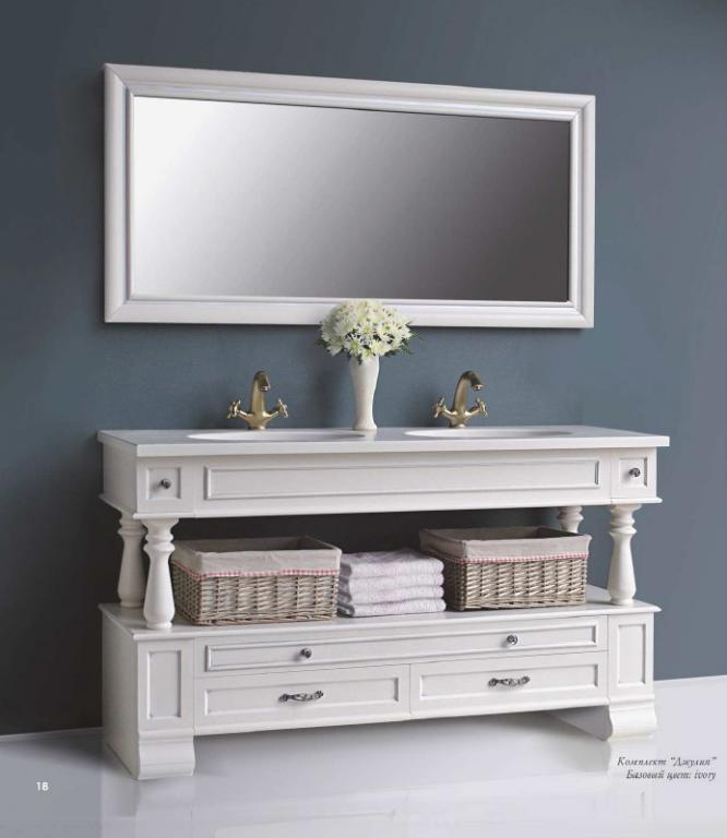 Комплект мебели Ольвия (Атолл) Джулия 150 ivory (серебро)