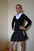 Юбка на девочку черная школа 122-140