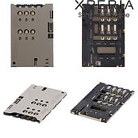 Коннектор SIM-карты для Sony ST25i Xperia U, оригинал