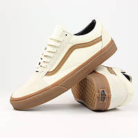 Кеды Vans Old Skool White Suede Gum
