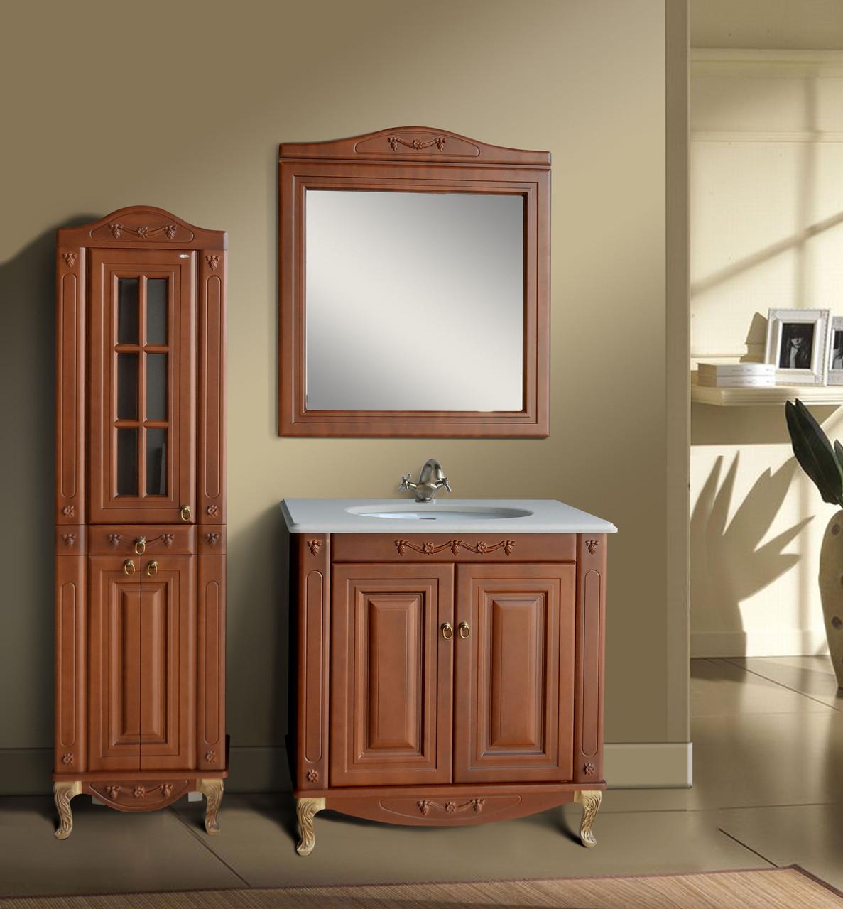 Комплект мебели Ольвия (Атолл) Верона 85 глухой фасад столешница камень scuro