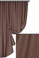 Ткань для пошива портьер Мультивельвет, светло-коричневый