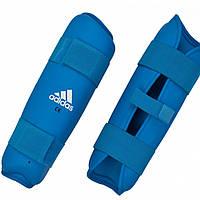 Защита голени Adidas WKF синяя. XL