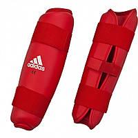 Защита голени Adidas WKF красная. XL