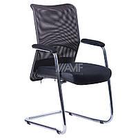Кресло Аэро CF хром сиденье сетка Черная, Неаполь N-20/Спинка сетка черная, фото 1