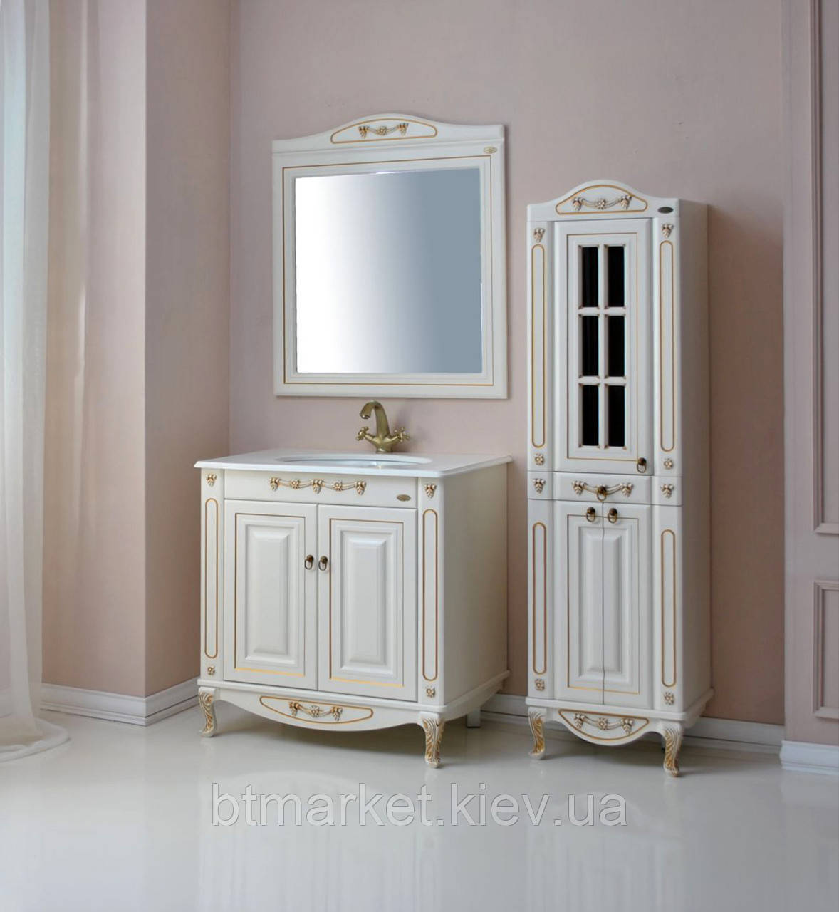 Комплект мебели Ольвия (Атолл) Верона 85 глухой фасад столешница камень dorato
