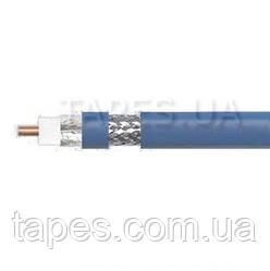 Кабель коаксиальный Multipin RG 5D-FB PVC, 50 Ом, центральная жила - медная моножильная, цвет - синий, за 1 ме
