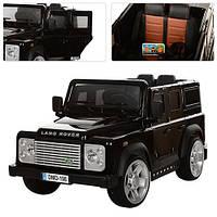 Детский электромобиль джип Land Rover M 3190 EBLRS-2, кожаное сиденье и автопокраска